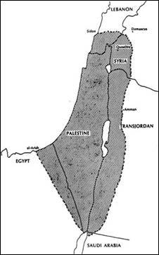 «Палестина», на которую претендовала Сионистская организация, 1919 год